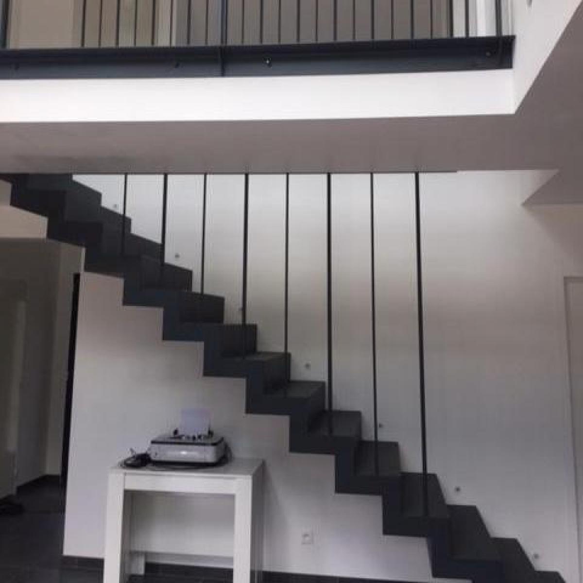 Escalier fini et posé<br>